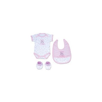 Pink Western Cowgirl Baby Infant Bath Set with Embroidered Hooded Towel and Washcloth by Moss...