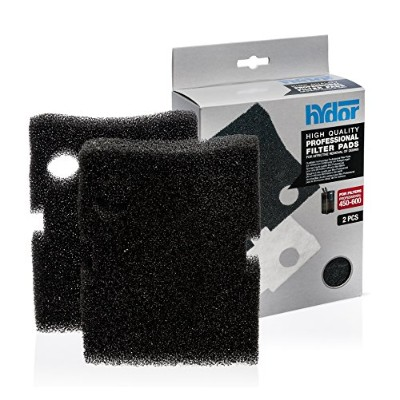Hydor Professional External Canister Filter Media, 2 pk, Large, Black Foam Pad, Fits 450/600 by...