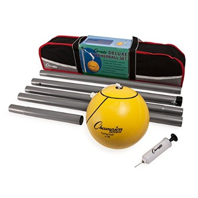 Champion Sports Portable Tetherball Set: classique de courge Lawn Beach and Pool Party Game...