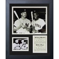 "Legends Never Die "" Mickey Mantle and Willie Maysインチフレーム写真コラージュ、11 x 14インチ"