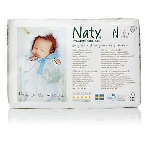 Naty by Nature Babycare Chlorine-Free ECO Diapers for Newborn, 104 Count by Naty by Nature Babycare