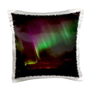 "Danita Delimont – Northern Lights – Northern Lights Over The South Of Iceland。 – 枕ケース 16"" x 16"" pc..."