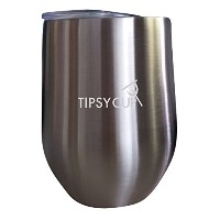 The Tipsy Cup – ステンレススチールStemlessワイングラスTumbler with Spill Resistant Lid – 12 oz