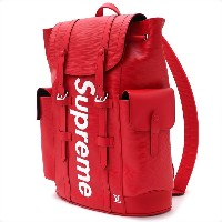 SUPREME(シュプリーム) x LOUIS VUITTON(ルイ・ヴィトン) Christpher Backpack PM (バックパック) RED 276-000272-013+【新品】