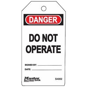 Master Lock Danger - Do Not Operate Tag, Plastic, 5-3/4 Height, 3 Width (Pack of 6) by Master Lock
