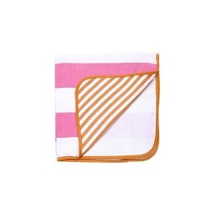 Turkish-T Seashore Baby Hooded Towel - Pink/Orange by Turkish-T