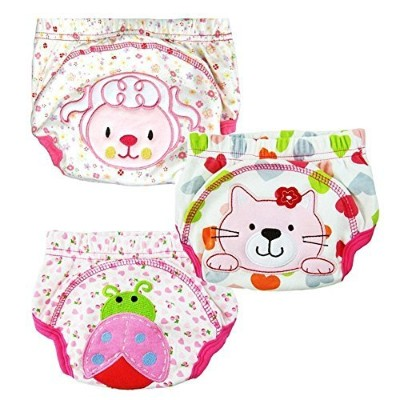 Collager Baby Kids Potty Training Pants Washable Cloth Diaper Nappy Underwear (90, Girl) by Collager