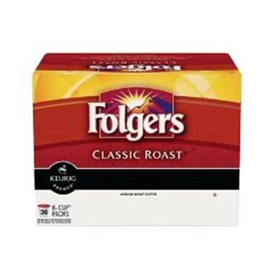 【海外直送品】KEURIG HOT Folgers Classic Roast Coffee 36K-Cup Pods