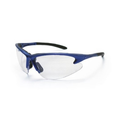 SAS Safety SAS540-0700 DB2 Safety Glasses Clear Lens and Blue Frames in Polybag