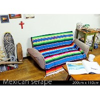 RUG&PIECE Mexican Serape made in mexcico ネイティブ メキシカン サラペ メキシコ製 200cm×110cm (rug-5928)