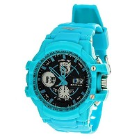 Everlast Sport Men's Analog Digital Round Watch with Turquoise Rubber Strap by Everlast