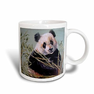 3droseハーAmy Heath動物 – その他 – Panda Bear Sitting In Bamboo – マグカップ 11-oz ホワイト mug_44375_1