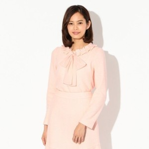 SALE【トゥー ビー シック(TO BE CHIC)】 【L】ソフトブークレーブラウス ピンク