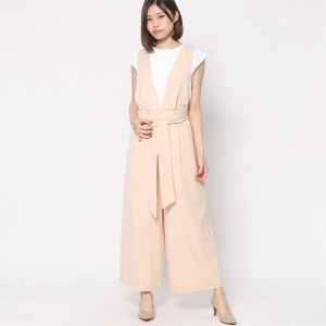 【SALE 60%OFF】ミーア プロデュースド バイ ルーミィーズ MIIA produced by Roomy's OUTLET ウエストリボンサロペット (ベージュ)