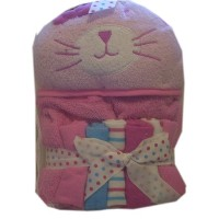 Cutie Pie Terry Hooded Towel and Washcloth Set Girls by Cutie Pie Baby
