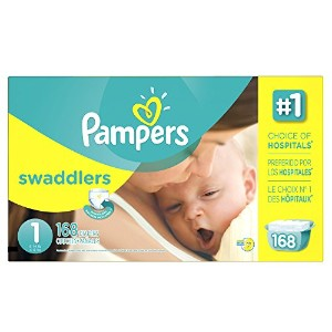 Pampers Swaddlers Size 1 Diaper, 168 count per pack -- 1 each. by Pampers