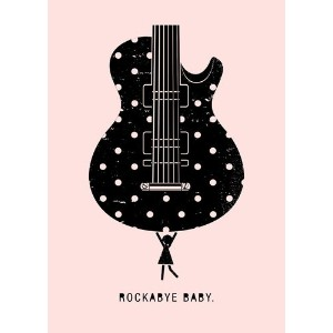 Oopsy Daisy Rockabye Baby Canvas Wall Art, Girl, 10 x 14 by Oopsy Daisy