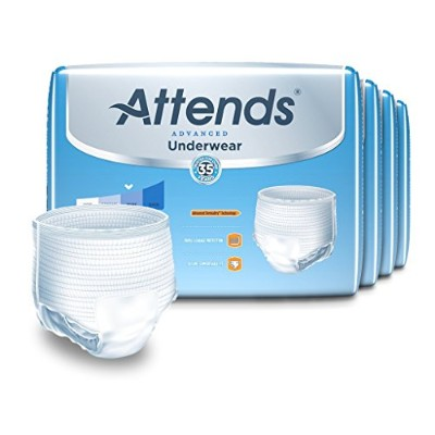 Attends Incontinence Care Underwear for Adults, Complete, Medium, 80 Count by Attends