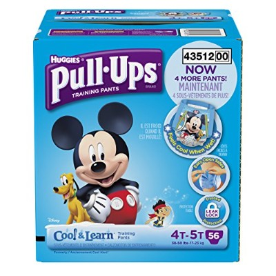 Huggies Pull-Ups Training Pants with Cool and Learn for Boys, Size 4T-5T, 56 Count by Pull-Ups