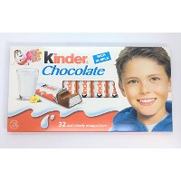 Kinder Chocolate(キンダーチョコレート)RICH IN MILK (32個 x 12.5g) 【並行輸入品】