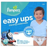 Pampers Boys Easy Ups Training Underwear, 4T-5T (Size 6), 60 Count by Pampers