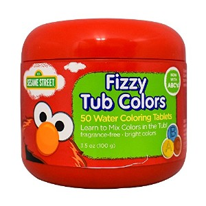 Sesame Street Fizzy Tub Colors 50 Count by Sesame Street