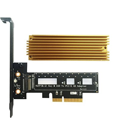 Sourcingbay M.2 PCIe 変換アダプタ M.2 NGFF PCI-e SSD - PCI Express 3.0 x4ホストアダプタカード - M.2 PCIe(NVMeまたはAHCI...