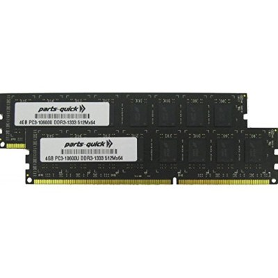 8 GB ( 2 x 4 GB )メモリアップグレードfor DFI hd330-q87ボードddr3 pc3 – 10600 1333 MHz DIMM RAM ( parts-quickブランド)