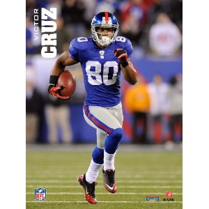 Official NFL Licensed Victor Cruz 4 X 6 Plaque