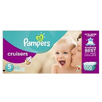 Cruisers Diapers, Size 5: 27 - 34 Lbs, 108/carton by PAMPERS