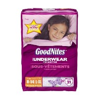 GoodNites Underwear, Girls, Large/Extra-Large, 21 Count by GoodNites