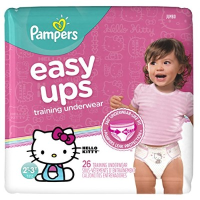 Pampers Easy Ups Training Girls Underwear, Size 4, 26 Count by Pampers