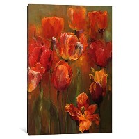 "iCanvasART 1 Piece Tulips In The Midst IIキャンバスプリントby Marilyn Hageman 18"" x 12""/0.75"" Deep WAC888..."