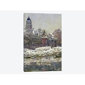 iCanvasART 1ピースThe Church at Vetheuil , 1879キャンバスプリントbyクロードモネ、0.75by 8by 12-inch