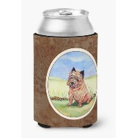 Caroline 's Treasures 7017CC Cairn Terrier and the Chipmunk CanまたはBottle Hugger ,マルチカラー