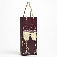 Enesco Wild About Words Toastingギフトバッグ、13インチ、マルチカラー