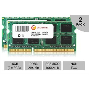 16 GBキット2 x 8 GB SODIMM Apple iMac Late 2009 pc3 – 8500 a1311 mb950ll / AメモリRam by centernex