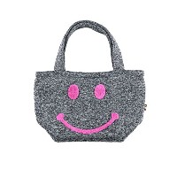 (ラスティ) RUSTY トートバッグ 957906 SMILE KNIT FLEECE MINI TOTE BAG GRY
