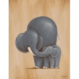 Oopsy Daisy Canvas Wall Art Safari Kisses Elephant by Sarah Lowe, 14 by 18-Inch by Oopsy Daisy