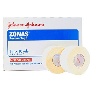 ZONAS Porous Tape - 1 wide x 10 Yards roll (Pack of 2 Rolls) by Zonas