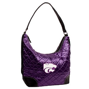 NCAA Kansas State Wildcats Quiltedホーボーバッグ、パープル