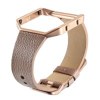 bayiteレザーバンドwith Frame for Fitbit Blaze本革スリムストラップReplacement for Fitbit Blaze Smart Fitness...
