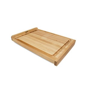 John Boos Countertop Reversible Edge Grain Cutting Board with Gravy Groove, 23.75 Inches x 17.25...
