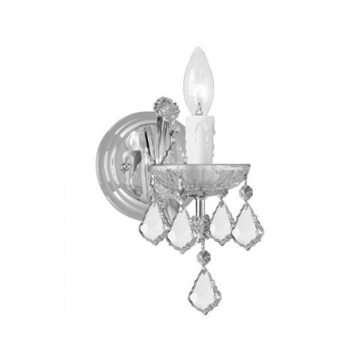 Crystorama 4471-CH-CL-SAQ Maria Theresa 1 Light Spectra Crystal Sconce I in Polished Chrome Finish...