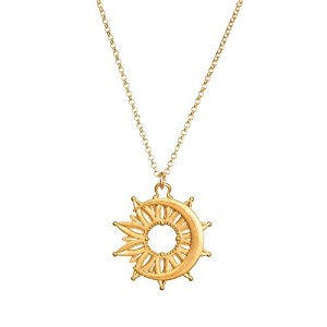 "Dogeared Darling It 's Okay to Transform Sun and Moonコイン20 "" with 2 "" Extender Gold Dipped Necklace"