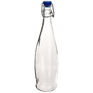 Libbey Glassware 13150020 Glass Water Bottle with Wire Bail Lid, 33-7/8 oz. (Pack of 6) [並行輸入品]