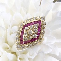 One&Only Jewellery 【鑑別書付】 ルビー 1.69ct K18 イエローゴールド リング 指輪 7月誕生石
