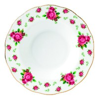 Royal Albert New Country Roses White Vintage Rimmedスープやサラダボウル One Size 652383736375