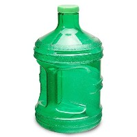 1 Gallon BPA FREE Reusable Plastic Drinking Water Big Mouth Bottle Jug Container with Holder -...