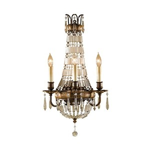 Feiss wb1445Bellini 3ライトリバーシブルcandle-style壁取り付け用燭台、 12.75 in. Diameter x 23 in. H ブロンズ WB1445OBZ...